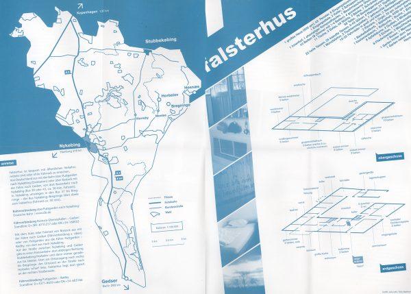 Falsterhus - Innenseite des Prospekts