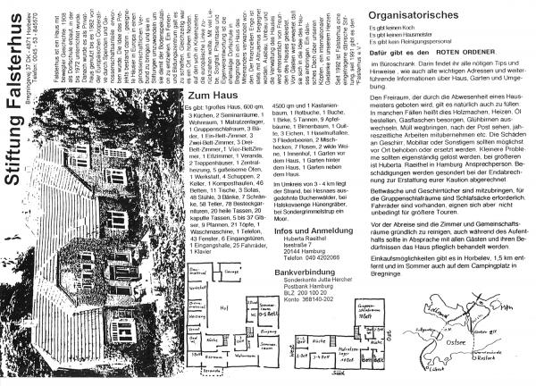 Falsterhus Prospekt 1996 Vorderseite