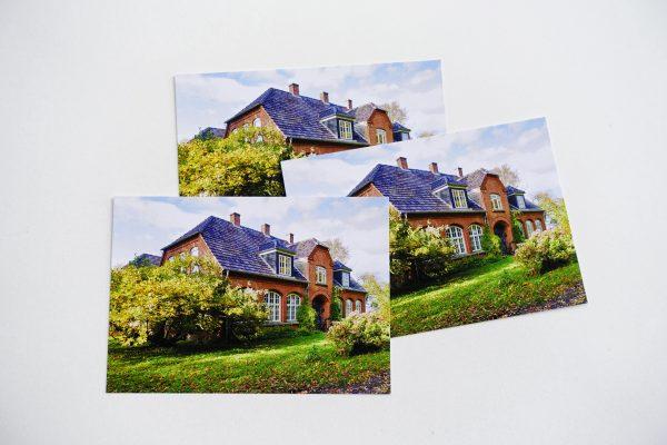 Postkarte Falsterhus herbstlich
