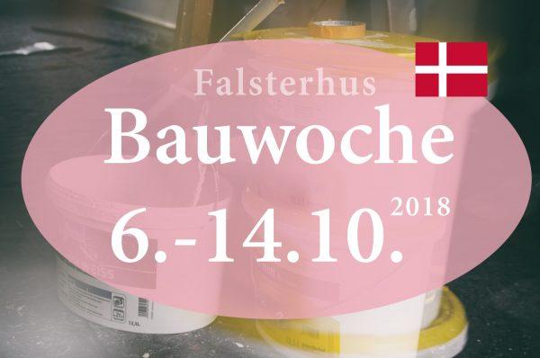 Einladung zur Herbstbauwoche 2018 im Falsterhus