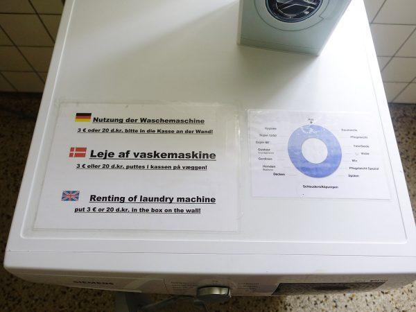 Waschmaschine Bedienungsübersicht