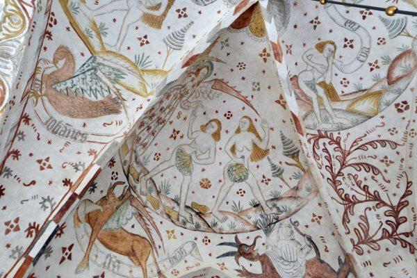 Deckengemälde in der Kirche von Aastrup