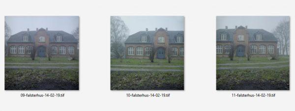 3 Aufnahmen Falsterhus