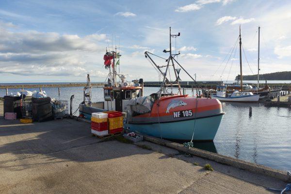 In Hesnäs am Hafen